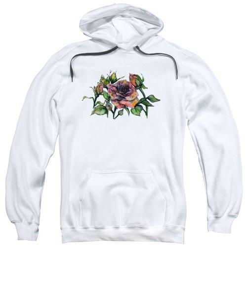 Stylized Roses Sweatshirt