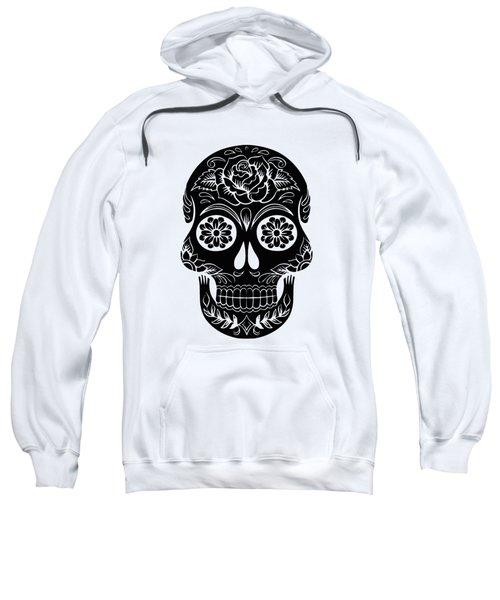 Sugar Skull Day Of The Dead Black Ink Sweatshirt