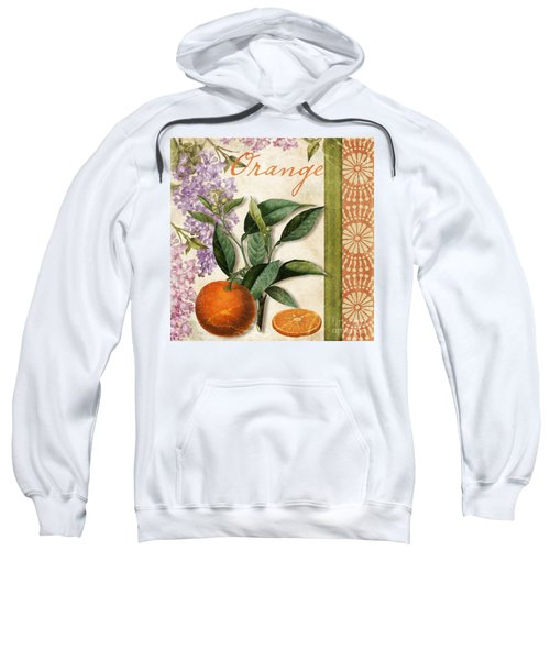 Summer Citrus Orange Sweatshirt by Mindy Sommers
