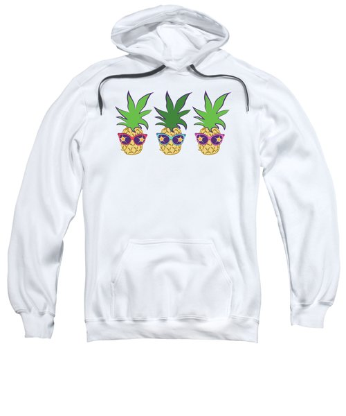 Summer Pineapples Wearing Retro Sunglasses Sweatshirt by MM Anderson