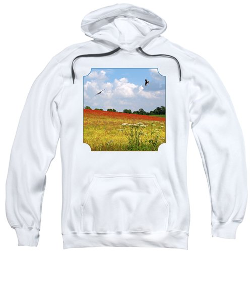 Summer Spectacular - Red Kites Over Poppy Fields - Square Sweatshirt