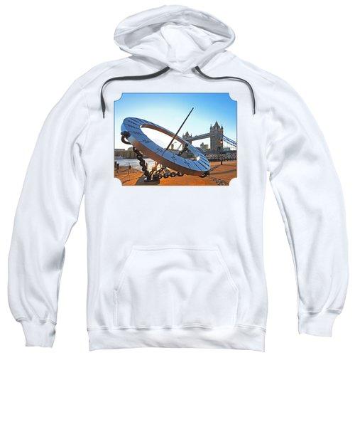 Sun Dial And Tower Bridge London Sweatshirt
