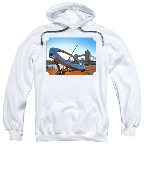 Sun Dial And Tower Bridge London Sweatshirt