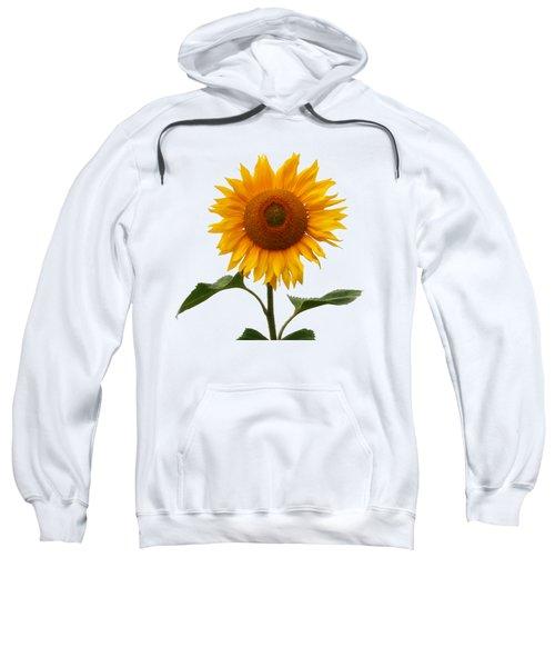 Sunflower On White Sweatshirt