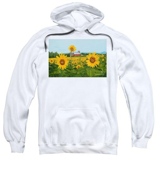 Sunflowers On Route 45 - Pennsylvania- Autumn Glow Sweatshirt