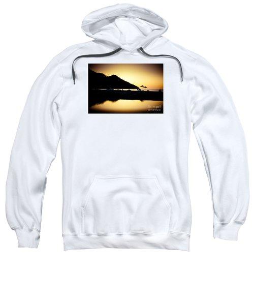Sunrise At Sea Coast Brown Sweatshirt