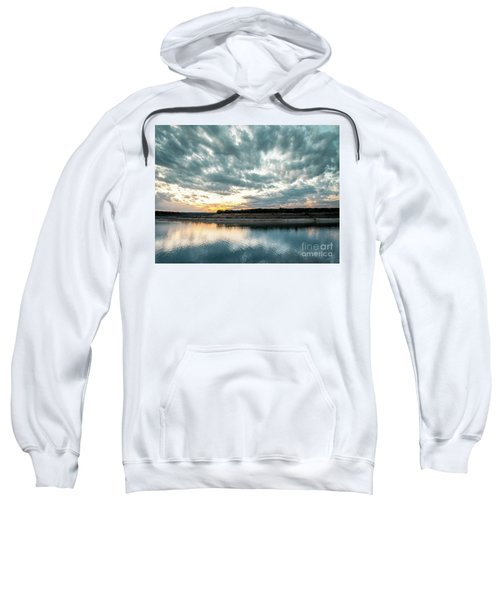 Sunset Behind Small Hill With Storm Clouds In The Sky Sweatshirt