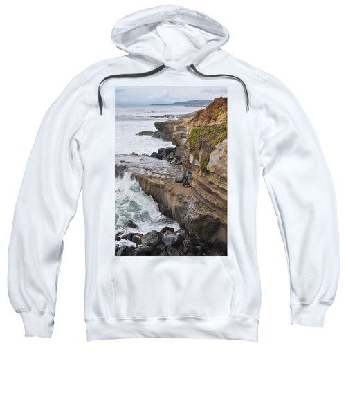 Sunset Cliffs San Diego Portrait Sweatshirt