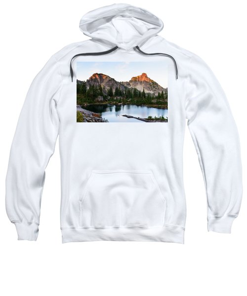 Sunset In Lila Lakes And High Box Mountain Sweatshirt