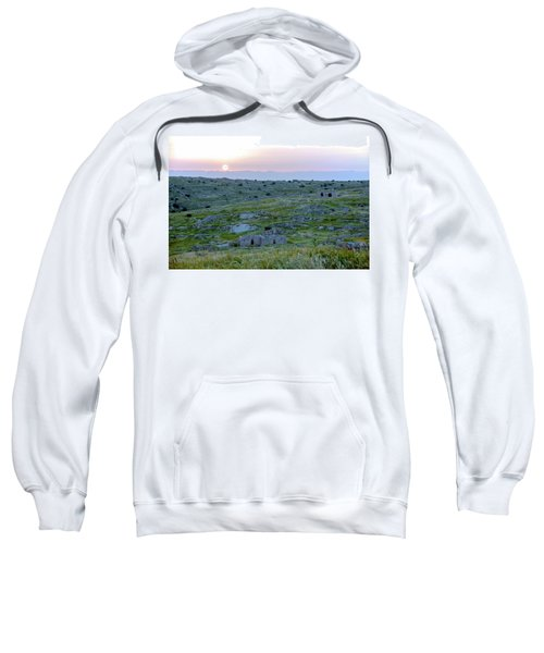 Sunset Over A 2000 Years Old Village Sweatshirt by Dubi Roman
