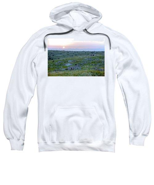 Sunset Over A 2000 Years Old Village Sweatshirt