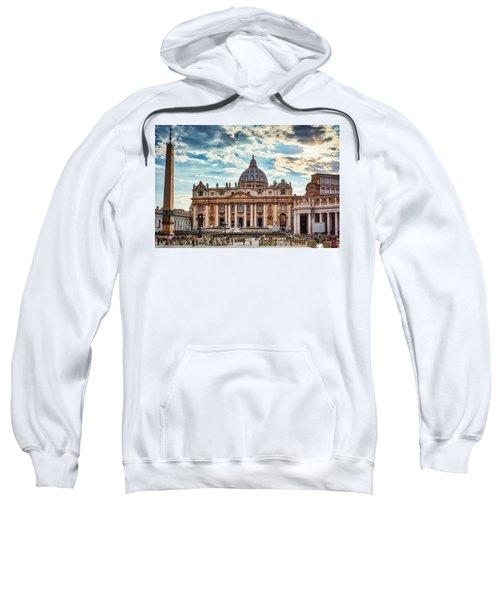 Sunset Over The Papal Basilica Of Saint Peter Sweatshirt