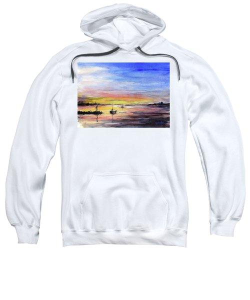 Sunset Watercolor Downtown Kirkland Sweatshirt