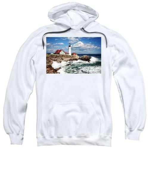 Sweatshirt featuring the photograph Surf Meets Land by Scott Kemper
