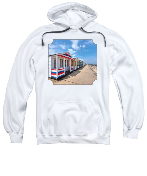 Surf's Up - Colorful Beach Huts Sweatshirt