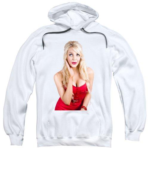 Surprised Pin-up Woman Sweatshirt