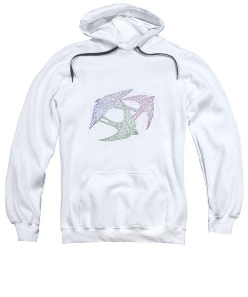 Swallow Birds Motion Design  Sweatshirt