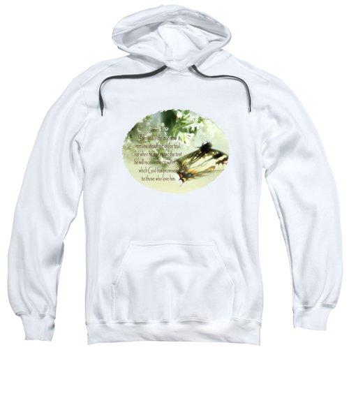 Swallowtail And Lilac Sweatshirt by Anita Faye