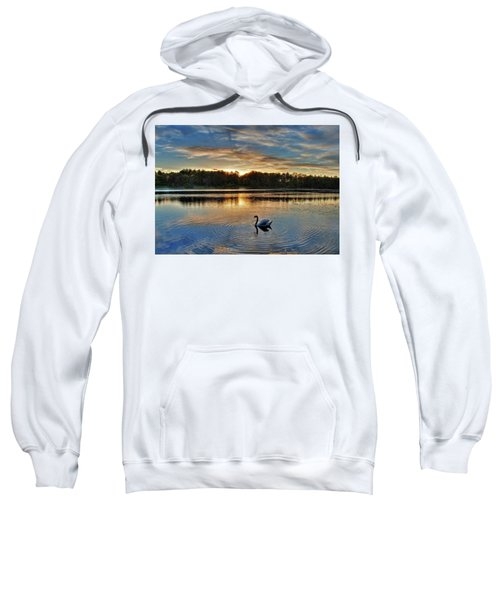 Swan At Sunset Sweatshirt
