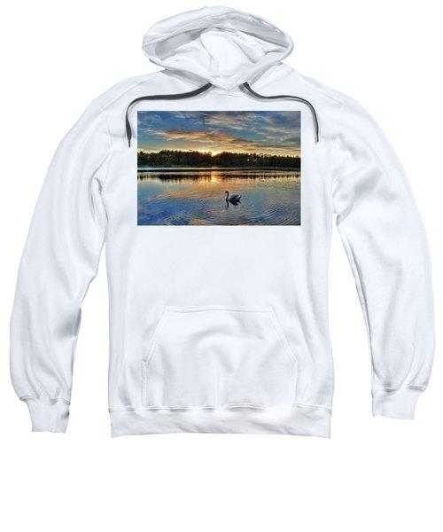 Swan At Sunset Sweatshirt