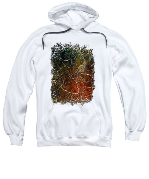 Swan Dance Earthy Rainbow 3 Dimensional Sweatshirt