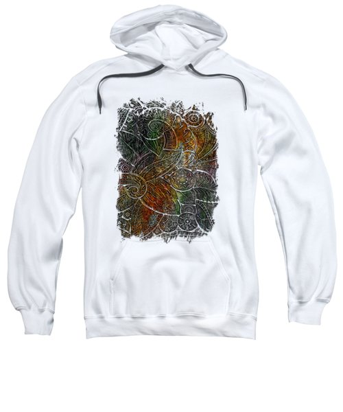 Swan Dance Muted Rainbow 3 Dimensional Sweatshirt by Di Designs