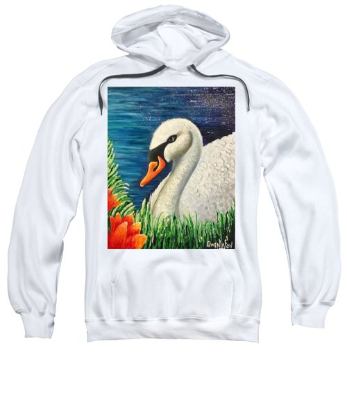 Swan In Pond Sweatshirt