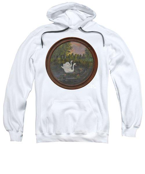 Swans On Lake Sweatshirt