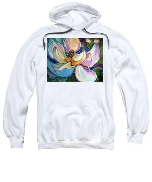 Sweet Magnoli Floral Abstract Sweatshirt