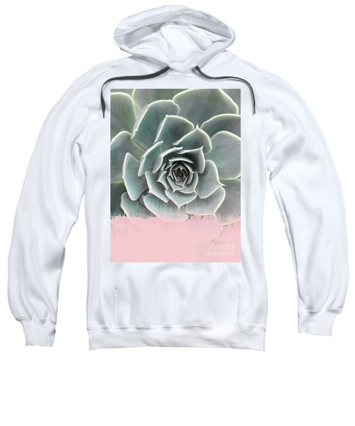 Sweet Pink Paint On Succulent Sweatshirt