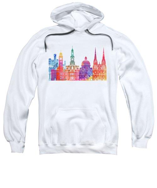 Sydney  Landmarks Watercolor Poster Sweatshirt