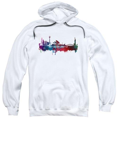 Sydney Skyline City Blue Sweatshirt by Justyna JBJart