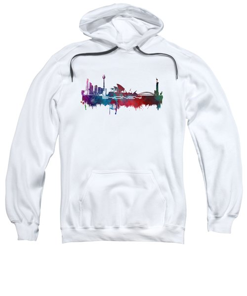 Sydney Skyline City Blue Sweatshirt