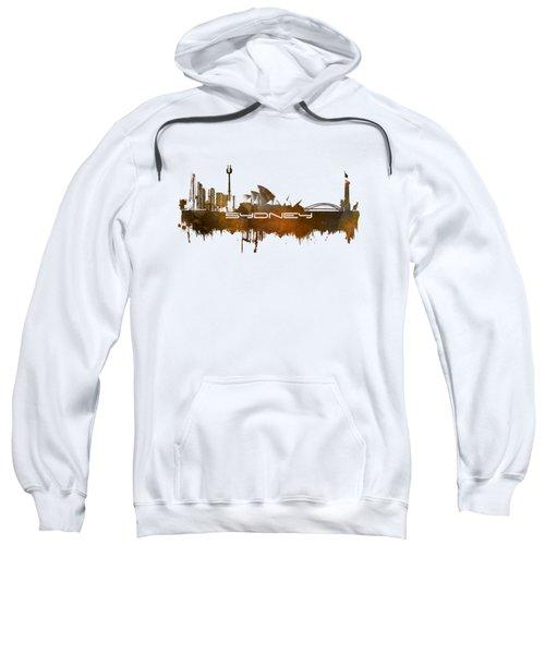 Sydney Skyline City Brown Sweatshirt by Justyna JBJart