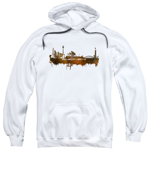 Sydney Skyline City Brown Sweatshirt