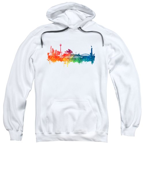 Sydney Skyline City Color Sweatshirt by Justyna JBJart