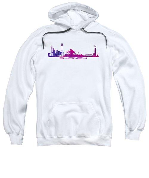 Sydney Skyline Purple Sweatshirt by Justyna JBJart
