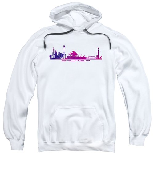 Sydney Skyline Purple Sweatshirt