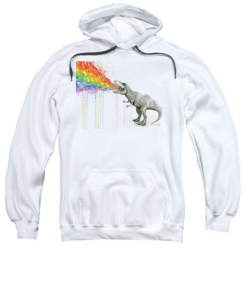 T-rex Tastes The Rainbow Sweatshirt