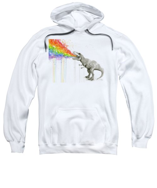 T-rex Tastes The Rainbow Sweatshirt