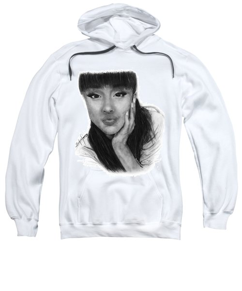 Ariana Grande Drawing By Sofia Furniel Sweatshirt