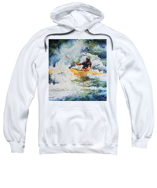 Sweatshirt featuring the painting Taming Of The Chute by Hanne Lore Koehler