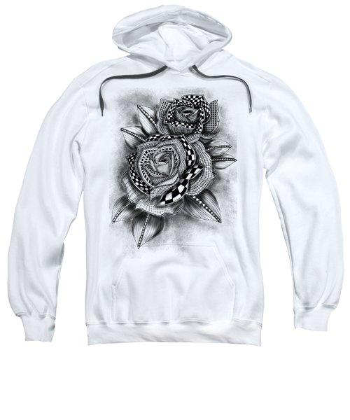 Tattoo Rose Greyscale Sweatshirt