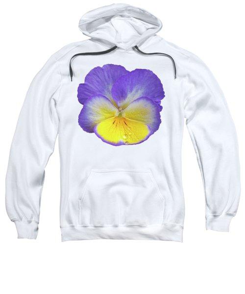 Tears Of Joy - Purple Pansy Sweatshirt