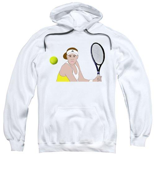 Tennis Ball Focus Sweatshirt by Priscilla Wolfe
