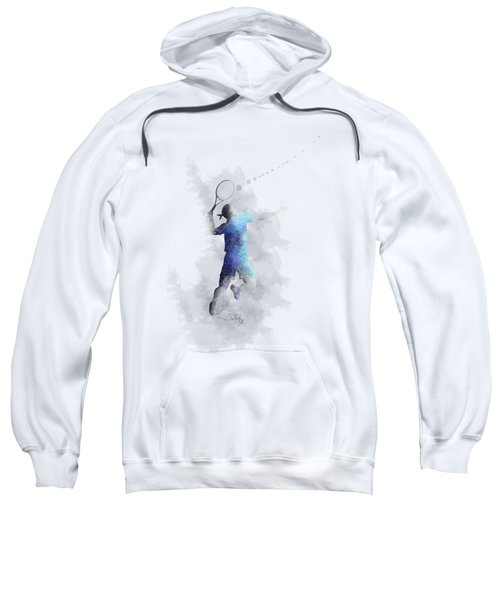 Tennis Player Sweatshirt by Marlene Watson