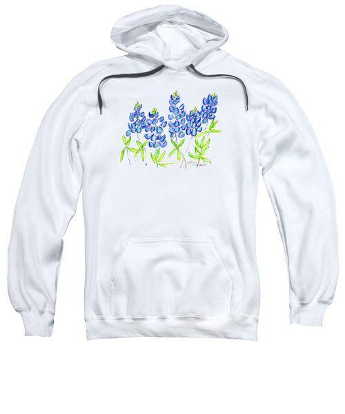 Texas Bluebonnets Watercolor Painting By Kmcelwaine Sweatshirt