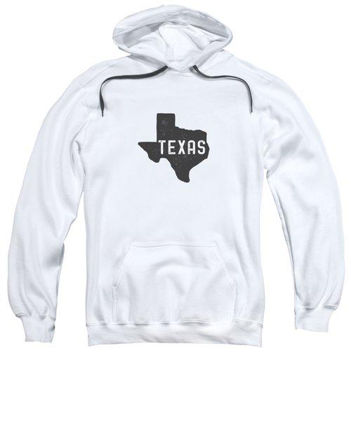 Texas Map Tee Sweatshirt