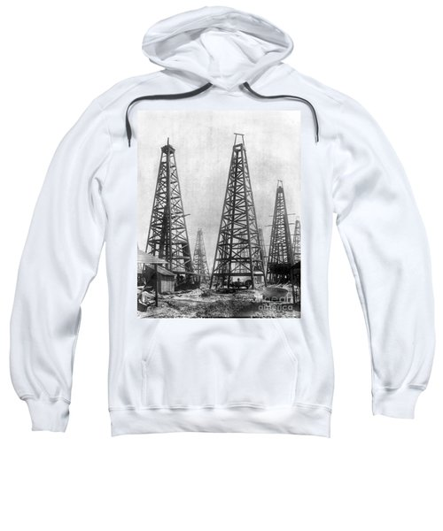 Texas: Oil Derricks, C1901 Sweatshirt