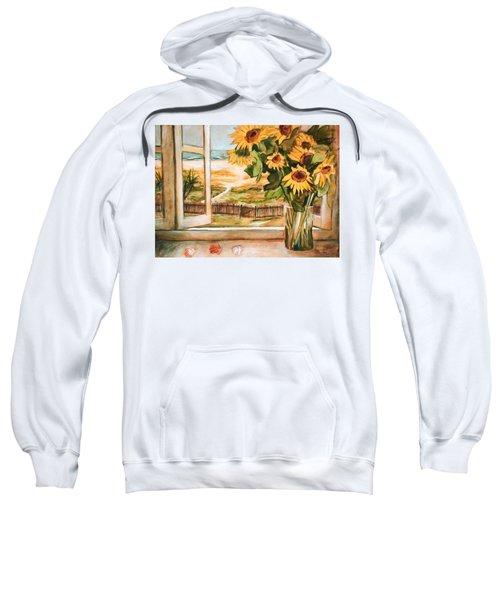 The Beach Sunflowers Sweatshirt